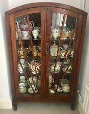 vintage art deco furniture. ANTIQUE DISPLAY CABINET WOOD GLASS FURNITURE VINTAGE ART DECO STYLE NORTHAMPTON Vintage Art Deco Furniture