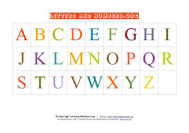 Letter Chart A Z Pdf Uppercase Capital Alphabet Abc Chart