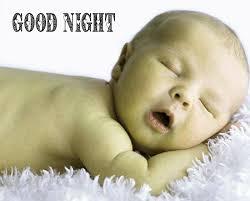 new good night cute baby sleeping