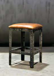 chair metal bar stools channel leather counter stool attorneyhows club backless excelent