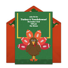 Free Online Thanksgiving Invitations Free Turkey Day Football Invitations Fall Party Ideas