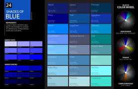 Shades Of Color Blue Chart Shades Of Blue Color Palette Chart Code Hex Html Rgb In 2019