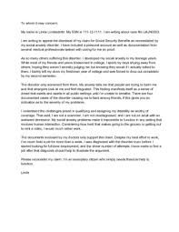 Appeal Letter Format Examples How To Write An Appeal Letter To Social Security Disability