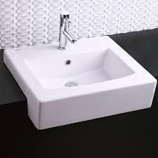 bathroom sinks boxe semi countertop sink white