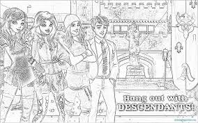 Disney Descendants Coloringges Stunning Mal And Evie Colouring