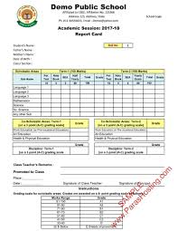 Student Report Card Template Cbse Report Card Format For Class Vi To Viii Cards