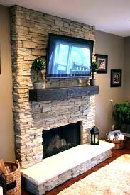 tv above fireplace mount over stone mounting gas built in
