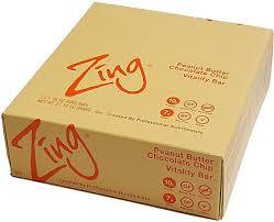 zing bars vitality bar peanut er chocolate chip 12 bars