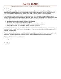 Data Entry Clerk Cover Letter Sample Things To Do Pinterest