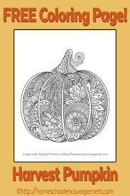 Free Printable Harvest Pumpkin Coloring Page