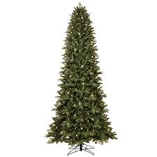 GE 9-ft Pre-lit Aspen Fir Slim Artificial Christmas Tree with 700 Color
