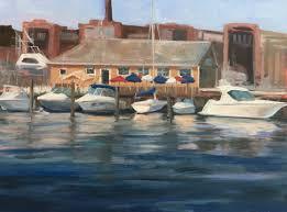 plein air painting linda marino artist connecticut coast painting branford ct