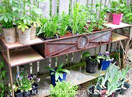 functional potting bench ideas