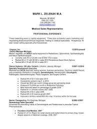 Medical Representative Sample Resume Reading Teacher Resume