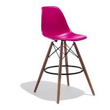 designer bar chair seat pink modern kitchen deco