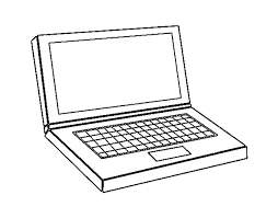 Computer Coloring Coloring Pages On Computer Colours For Kids