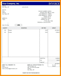 Excel Sales Invoice Template Free Download Invoice Format Kinumaki Club