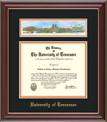 university of tennessee diploma frames online framing gifts  campus collage