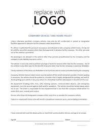 Company Vehicle Take Home Policy Cr Service Company