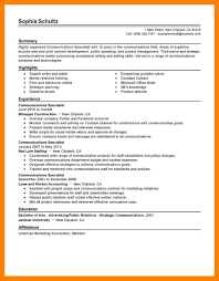 10 Communication Resume Examples Job Apply Form