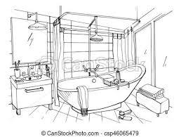 bathroom interior design sketches. Brilliant Interior Bathroom Sketch Hand Drawn Modern Interior Design  For Bathroom Interior Design Sketches I