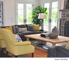 gray and yellow furniture. Living Room In Gray And Yellow Color Scheme Furniture O