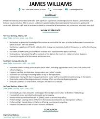 Resume Template Banking Bank Professional Service Investment Image