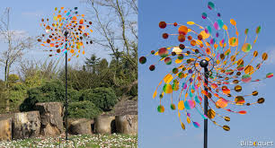 kinetic confetti 81cm decorative metal wind spinner regal art gift