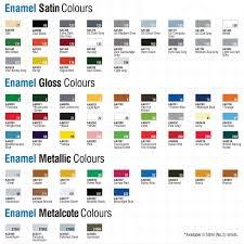 Airfix Model Paint Colour Chart Humbrol Enamel Modelling Paint Tinlets Colour Chart