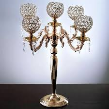 chandeliers candle holder chandelier candelabra crystal votive wedding centerpiece tall gold wrought iron chandeli