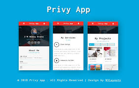 Free Website Templates Interesting Privy Mobile App Bootstrap Responsive Web Template