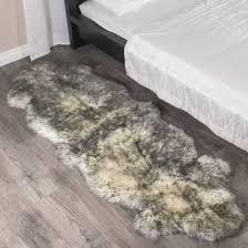 double twilight sheepskin rug 2 pelt 2x6 ft