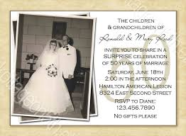 Free Printable 50th Wedding Anniversary Invitation Templates