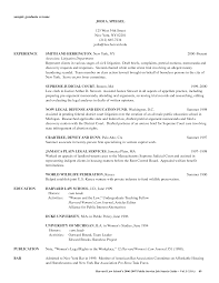 Sample Law School Application Resume Cover Letter Resume For Law