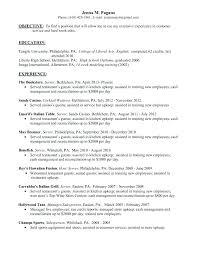 Server Responsibilities Resume Job Description For Restaurant Duties ...