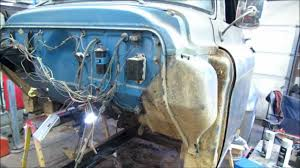 Separating the cab from the frame-55 chevy truck - YouTube