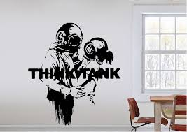 banksy think tank wall stickers on banksy wall art sticker with think tank banksy wall stickers adhesive wall sticker