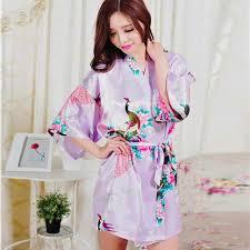 plus size silk robe online shop short sleeve floral sexy plus size women silk robe lady