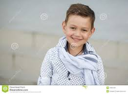 cute boy happy kid outdoors stock image