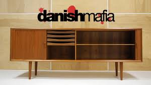 mid century danish modern designer teak credenza sideboard buffet