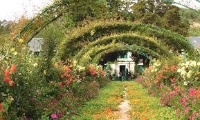 la grande allée monet s garden september 2017 matching tinted postcard of monet s garden at the beginning of the 20th century