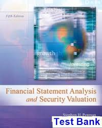 the best financial statement analysis ideas  financial statement analysis and security valuation 5th edition penman test bank test bank solutions