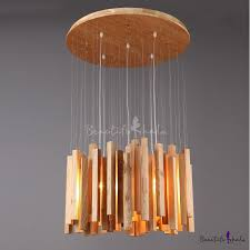 round wooden canopy and cer of wooden sticks designer pendant light 23 6 wide beautifulhalo com