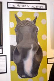 custom made funny horse painting large black horse painting oil w green