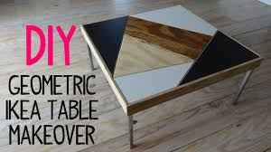 DIY Geometric Ikea Table Makeover