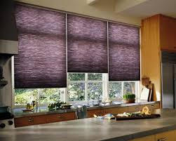 Roller Blinds For Kitchen Kitchen Installed Roller Blind In The Windows And Using Pastel