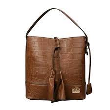 Coach Bleecker Sullivan In Embossed Medium Brown Shoulder Bags ECN ...