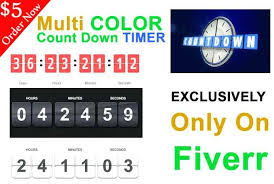 countdown timer 15 minutes set timer 4 hours create multi or single color countdown timer for