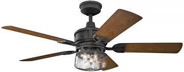 kichler lighting lyndon patio collection 52 inch distressed black ceiling fan w light