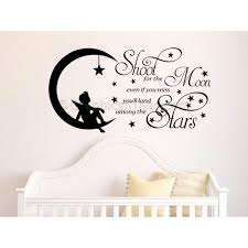 shoot for the moon childrens boy girl nursery bedroom playroom wall sticker quote vinyl decal on vinyl wall art quotes for nursery with shoot for the moon childrens boy girl nursery bedroom playroom wall